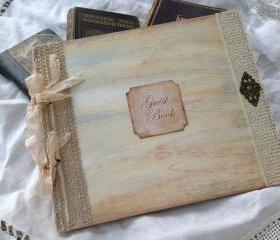 Large Wedding Guest Book - Ivory - 24 pages