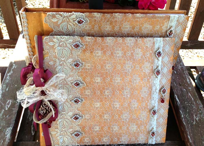 Wedding Guest Book And Photograph Album Indian Inspired